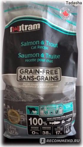 Упаковка Nutram Grains-free с лососем и форелью 1,8кг