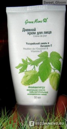 """Крем для лица GREEN MAMA """"Уссурийский хмель и витамин Е"""" фото"""