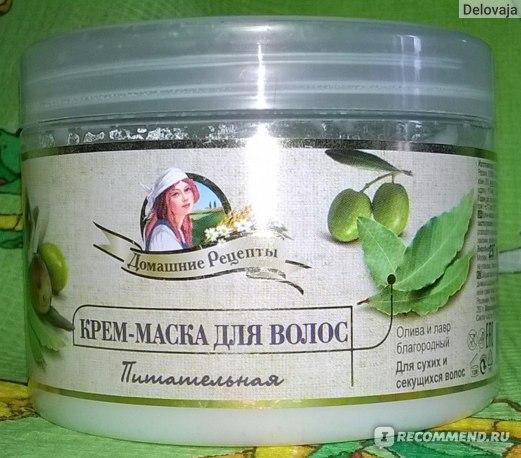 Крем-маска для волос Домашние рецепты питательная фото