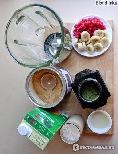 Ингредиенты для Смузи с Протеиновым Коктейлем Супер-Эликсир
