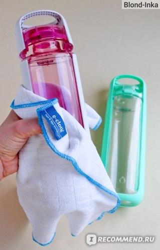 Протирание бутылок КОР полотенцами из микрофибры
