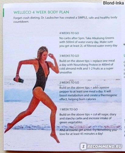 Эль Макферсон на странице буклета к SUPER ELIXIR™ Nourishing Protein