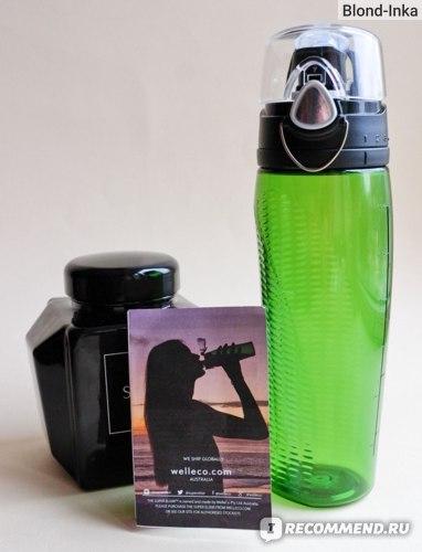 Бутылочка Hydrator bottle SUPER ELIXIR™ служит мне в основном для транспортировки Alkalizing Greens