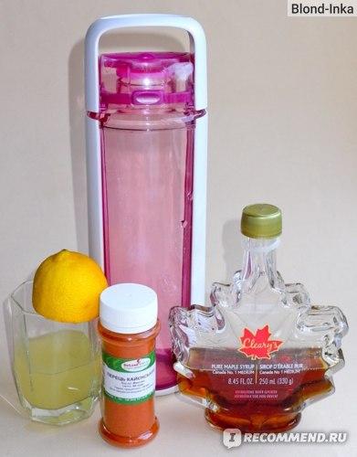 Питьевая буталка КОР, Лимонный сок, Каенский перец, Кленовый сироп