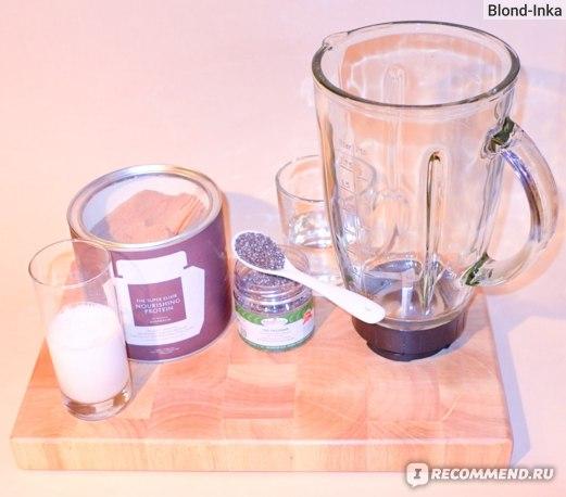 Ингредиенты для Чиа-Пудинга с Протеиновым Порошком SUPER ELIXIR™ Nourishing Protein