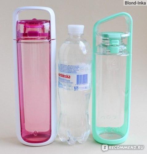 Бутылки объёмом 750 мл: KOR ONE Water Bottle, PET, KOR Delta