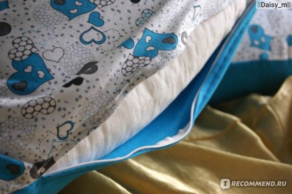 Подушка для беременных YutSon На все тело, голубые сердца фото