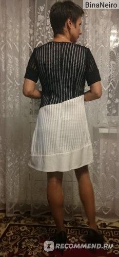 Платье AliExpress Hot selling dresses women half sleeve girls sexy black clothing dress office lady slim nice lace quality dress size M L XL #E304 фото