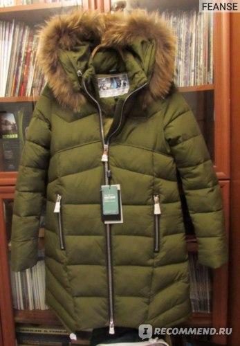 Пуховик AliExpress ICEbear 2015 Fashionable New Women Long Fur Collar Thickening Cotton Padded Jacket To Keep Warm Outdoor Coat 15G6306 фото