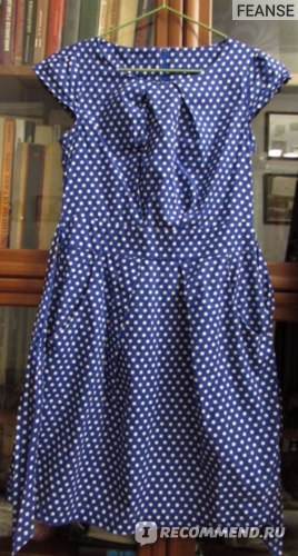 Платье AliExpress 2014 fashion high quality blue vintage polka dot dress for women belt sleeveless plus size free shipping фото