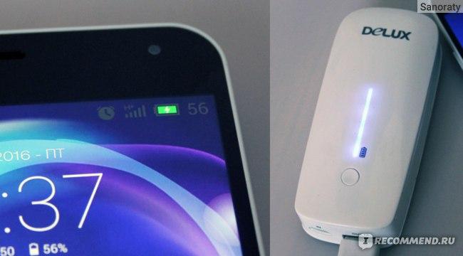 Delux DLP-09 5200 mAh зарядка телефона