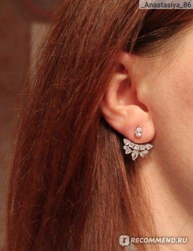 Серьги-пусеты Sokolov jewelry серебряные с фианитами, Артикул: 94021936 фото