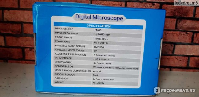 Микроскоп Aliexpress New Portable USB 500X 2MP Digital Microscope Endoscope Magnifier Camera Black High Quality Brand New фото
