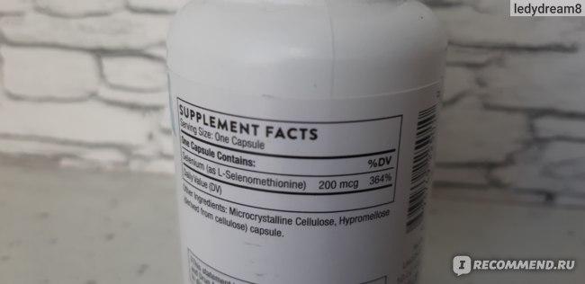 БАД Thorne Research Селенметионин, 60 капсул фото