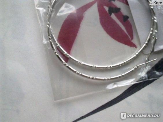 Бижутерия Buyincoins Серьги-кольца Women Fashion Big Circle Earrings Hoop Dangle Ear Clips Make Up Jewelry фото