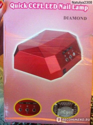 LED лампа для полимеризации гель-лака Aliexpress Fashion Diamond Shaped 36W LED CCFL Nail Dryer Nail Curing Lamp Machine Tool Set  фото