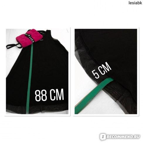 Платье DKNY Logo Dress Black замер длины