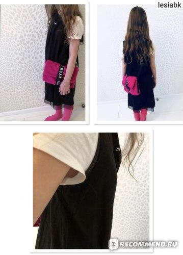 Платье DKNY Logo Dress Black на 14 лет