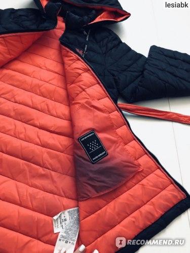 Куртка женская Armani черно-оранжевая