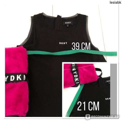 Платье DKNY Logo Dress Black замер ширины