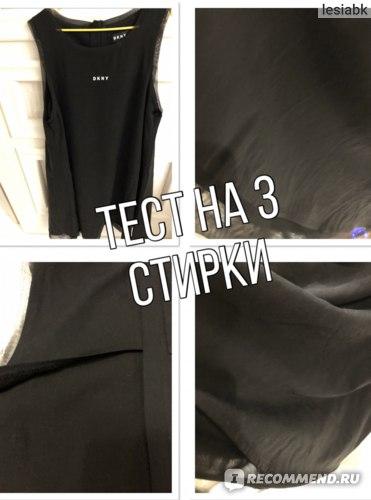 Платье DKNY Logo Dress Black стирка