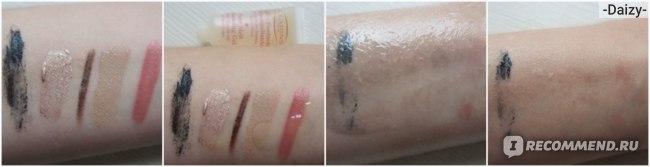 Clarins Pure Melt Cleansing Gel, тест на снятие макияжа