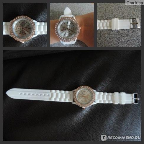 Часы Aliexpress Fashion Geneva watch vintage gold crystal rhinestone watch silicone strap Quartz wristwatch for ladies women 1FU3 фото