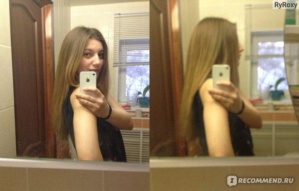 объем на волосах,после сушки феном
