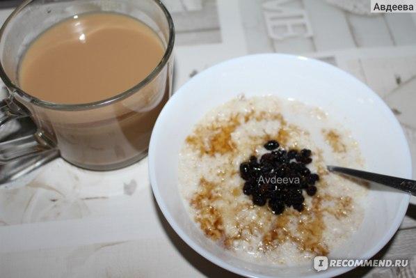 Пример завтрака: овсянка
