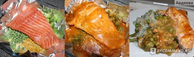 Пример обеда: рыба + овощи