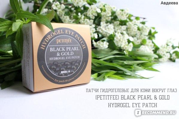 Патчи гидрогелевые для кожи вокруг глаз [PETITFEE] Black Pearl & Gold Hydrogel Eye Patch