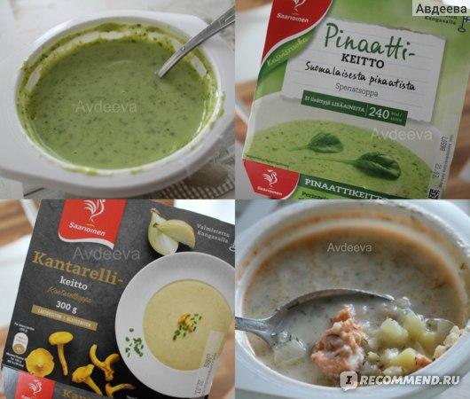 Овощные супы-пюре (около 40-50 ккал на 100 граммов)