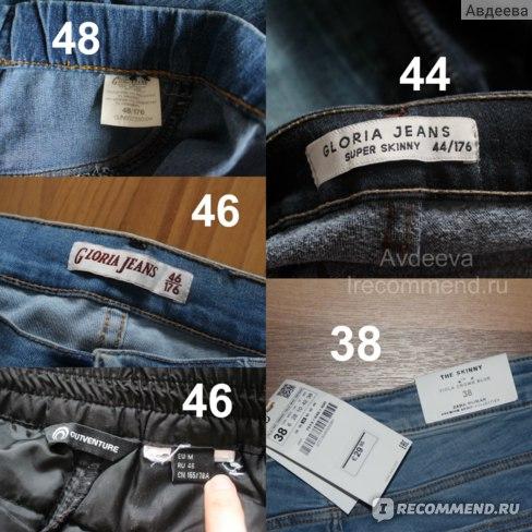 Размеры моих джинсов и штанов