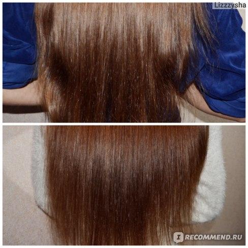 После другой корейской маски для сравнения, волосы высохли не расчесанными, поэтому подкрутились / Волосы после маски Lador