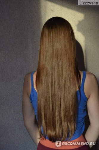 Волосы после маски-бальзама Пантенол при солнечном свете