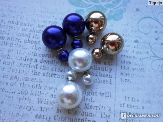 Серьги Aliexpress аля Dior double faced fashion pearl Acrylic candy colored beads earrings Colored earrings Bubble earrings фото