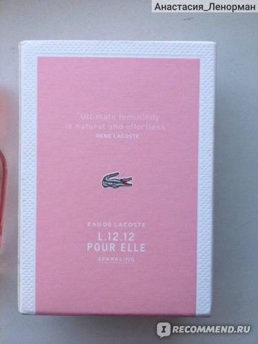 Lacoste Туалетная вода Eau de Lacoste L.12.12 Pour Elle Sparkling  фото
