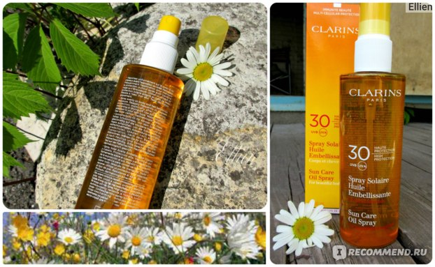 Солнцезащитный спрей Clarins Солнцезащитное масло-спрей для тела и волос Sun Care Oil Spray For Beautiful Body And Hair SPF 30 фото