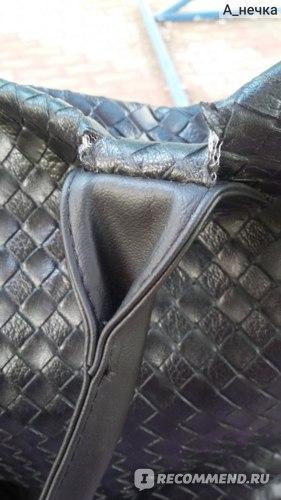 Сумка Женская Aliexpress Free Shipping Women Large Capacity Shopping Tote Weave Plaid Commuter Handbag Leisure Shoulder Bag #103 фото