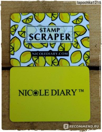 Скрапер Nicole Diary Мини 5.5x4 см. фото