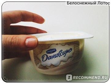 """Творожок Danone Даниссимо со вкусом """"Пломбир"""" фото"""
