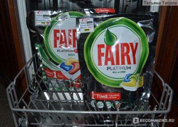 Капсулы для посудомоечных машин Fairy Platinum plus все в 1 фото