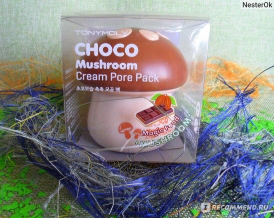 Маска для лица TONY MOLY MAGIC FOOD CHOCO MUSHROOM CREAM PORE PACK фото