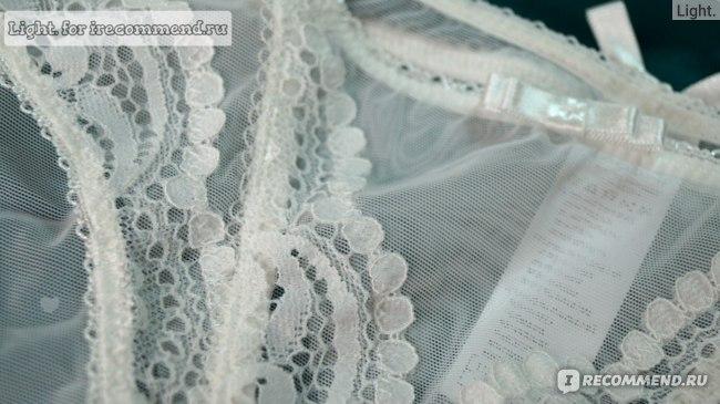 Комплект нижнего белья Aliexpress Underwear Women Bra Set Deep V-neck Plus Size Lingerie Sexy Transparent Lace Bra And Panty Set Push Up Lace Brassiere BS350 фото