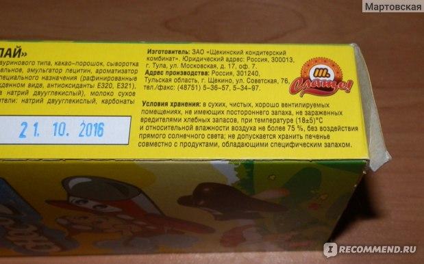 """Печенье детское ТМ """"Слаще"""" Choco Fly сахарное с шоколадом, 41 г. фото"""