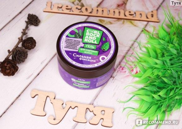 Гель для кудрявых волос CURL ROCK AND ROLL Cильной фиксации фото