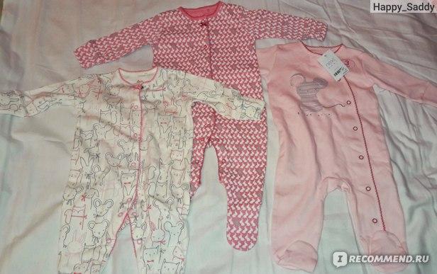 Комбинезон-слип Next Набор из трех розовых пижам с персонажами (0 мес. - 2 года) 683-067 фото