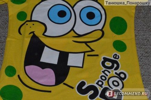 Футболка AliExpress 2016 Fashion Brand Design Cute Children Boys Cartoon SpongeBob  фото
