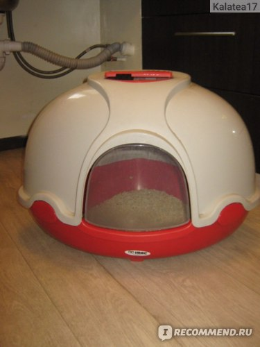 Закрытый туалет IMAC Ginger для кошек с совком и угольным фильтром  фото