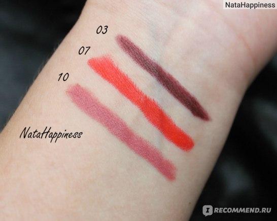 Golden Rose Matte Lipstick Crayon свотчи